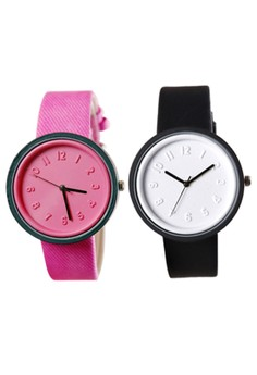 Lady's Fashion Colorful Jelly Silica Gel Strap Watch