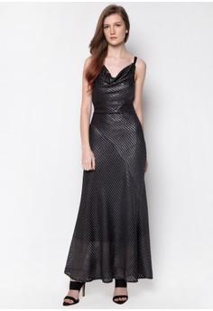 Formal Long Grid Dress