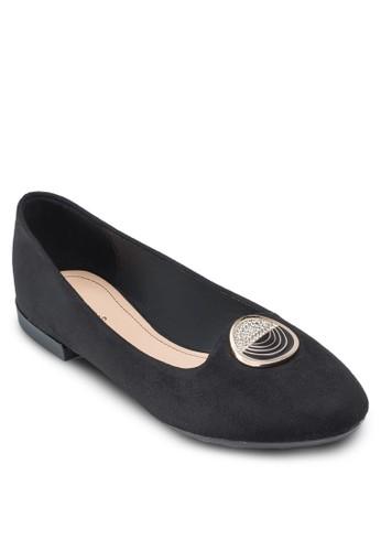 金飾平底鞋, 女鞋,esprit outlet 台中 鞋
