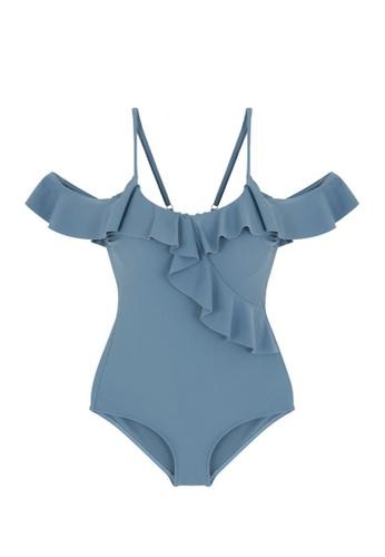 ZITIQUE blue Women's Cute One-piece Swimsuit - Blue 4AE46US75D230DGS_1