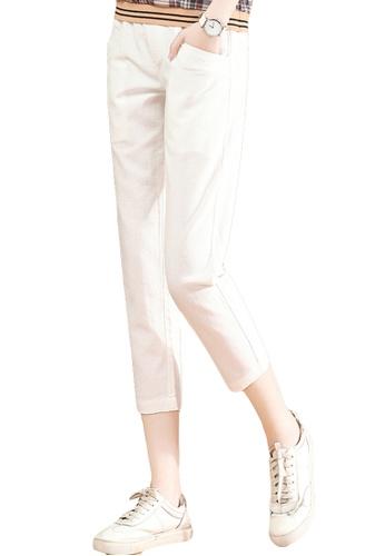 A-IN GIRLS white Elasticated Waist Cropped Trousers CB2EBAA2B3133EGS_1