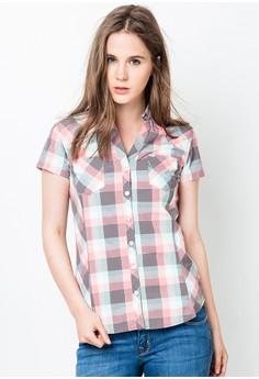 Shimmer Plaid Shirt