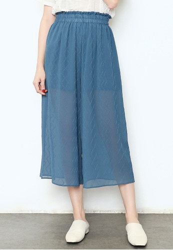 Buy A In Girls Elastic Waist Wide Leg Pants With Inner Lining