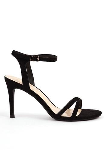 Twenty Eight Shoes 黑色 高踭幼帶涼鞋368-2 055E5SHA1E358EGS_1