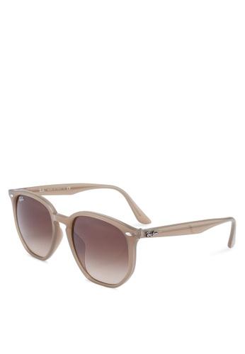 Ray-Ban beige Ray-Ban RB4306F Sunglasses 6C26CGL39584F7GS_1