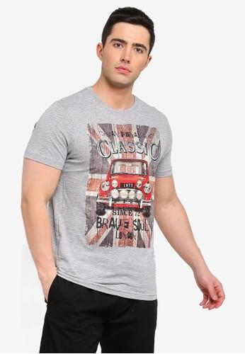 Brave Soul grey Marque T-Shirt with Photography Print BAFA3AA80ABA0DGS_1