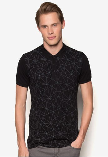 Geometrical Lines Polo Shirt