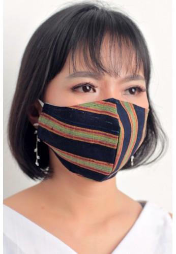 DhieVine Batik black and multi Facemask RANDOM LURIK B Earloop(3PCS) 031B1ESF3E791AGS_1