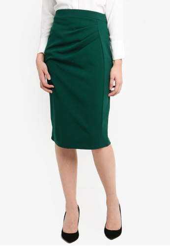 6bb36fef6106 Buy Dorothy Perkins Green Ruched Pencil Skirt Online on ZALORA Singapore