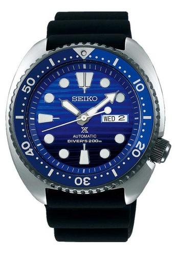 Seiko multi Seiko Prospex Blue, Silver and Black Rubber Watch 04A18ACD1D9CE0GS_1