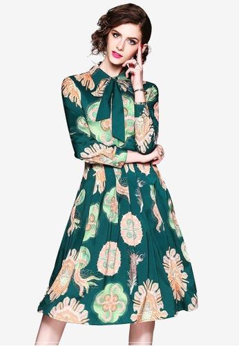 Sunnydaysweety multi Printed Pattern Retro One Piece Dress 1FEBDAA9DC4300GS_1