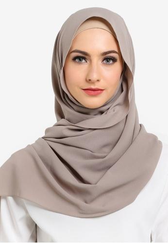 UMMA brown Fatima Basic Shawl UM594AA00ILJMY_1