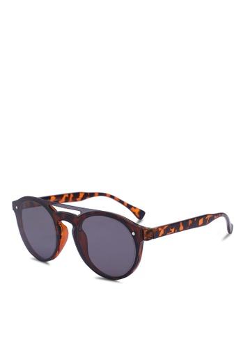 Jack & Jones brown Jacharry Sunglasses 2F2C1GLC8280E9GS_1