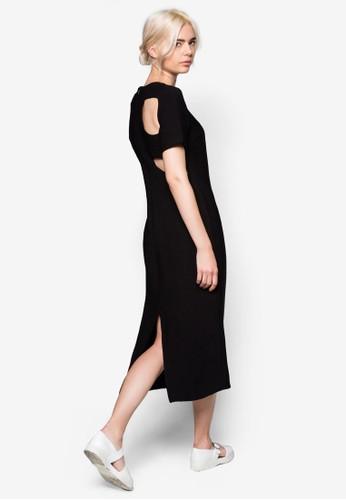 鏤空esprit outlet 台中開叉長版連身裙, 服飾, 洋裝