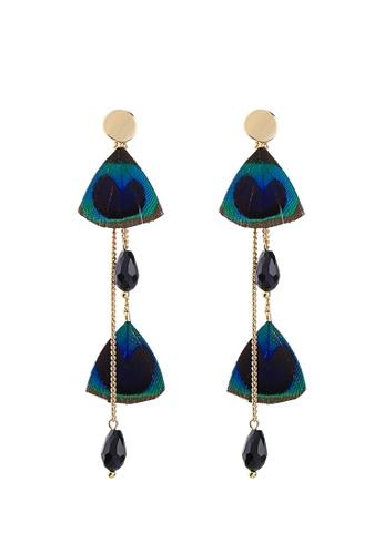 Sunnydaysweety blue The Feather Earring C071509 22210AC115FB95GS_1