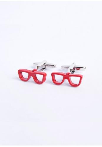 Splice Cufflinks red Geeky Red Glasses Cufflinks SP744AC55OLCSG_1