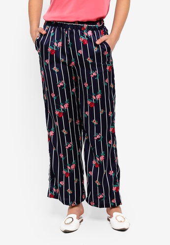 ONLY navy Wanaka Palazzo Pants A8963AA84CEC6EGS_1