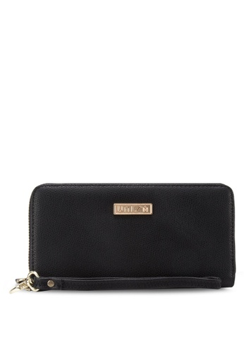 Unisa black UNISA Textured Ladies Zip-Up Wallet UN821AC77WJIMY_1