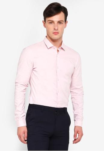 Topman 粉紅色 修身長袖襯衫 FF5BFAA7F6C326GS_1