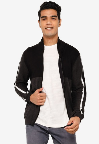 KOTON grey Striped Sleeves Detail Sweatshirt 7ABFDAA8183521GS_1