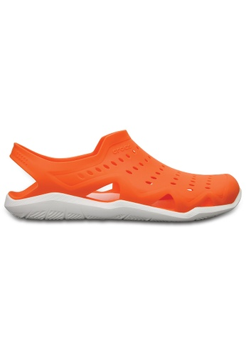 d65959b02d62 Crocs orange Crocs Men s Swiftwater Wave Ora Whi CR883SH45MNIMY 1