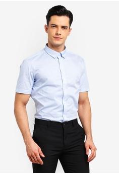 8f1e375b G2000 blue Zig Zag Short Sleeve Shirt BF052AAC2BCC59GS_1