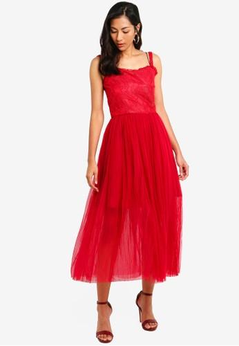 Megane red Red Romance Evonna Tulle Dress 14552AADBFFC10GS_1