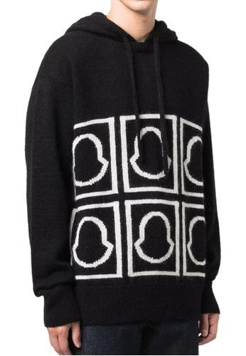 Moncler black Moncler Jacquard-Knit Logo Sweater in Black B6C3FAAACF923DGS_1