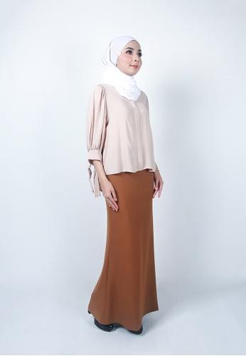 Ladies Jeans brown Modest Office Long Skirt 3D209AA33AFFD3GS_1