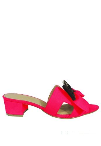 Jacque red Azura Maroon Low Heel JA262SH95WMYMY_1