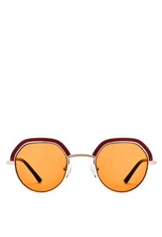 45564edea53 Carin brown and red and orange and gold Carin Denci C3 Round Sunglasses  4E01EGL7729DBAGS 1