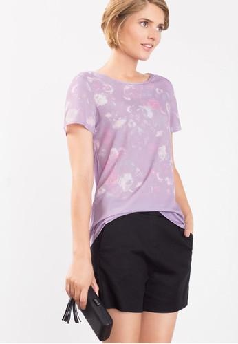 褪色花卉印花T 恤、 服飾、 T-shirtESPRIT褪色花卉印花T恤最新折價
