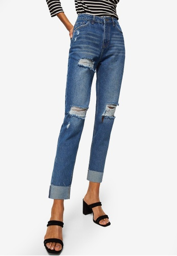 Mango blue Mom Relaxed Jeans 246E5AA586FDDFGS_1