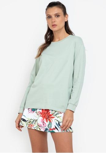 ZALORA ACTIVE green Oversized Long Sleeve Sweatshirt 6C793AA43BE01DGS_1