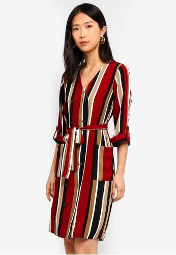 Dorothy Perkins red Red Stripe Button Mini Dress CF0B2AAD586BDFGS_1