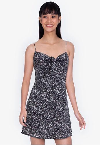 ZALORA BASICS multi Knot Front Cami Mini Dress 26DB3AA56F4D1EGS_1