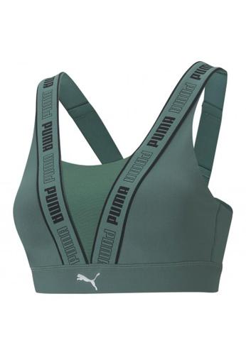 Puma green PUMA High Impact Fast Women's Training Bra EBBE4US2E50597GS_1