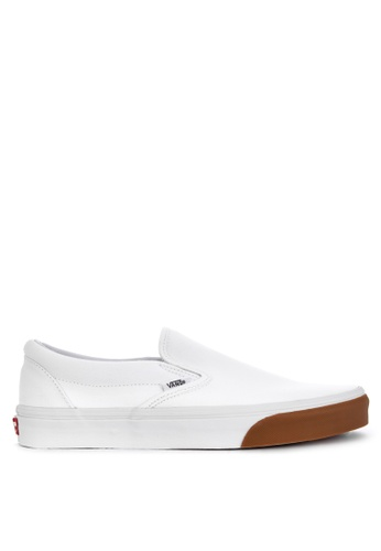 VANS white Classic Slip-On Sneakers 77E0CSH4D7865CGS_1