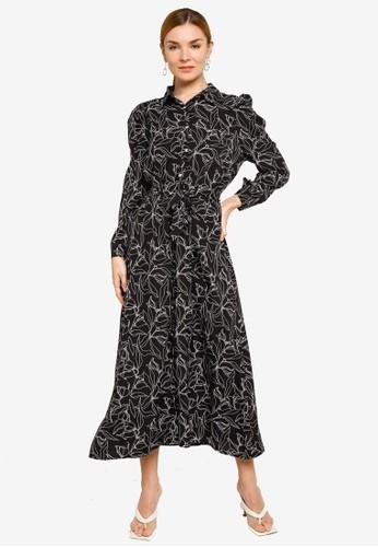 BYN black Muslimah Maxi Dress 18A03AA5E78A72GS_1