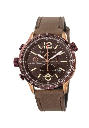 Alain Delon brown Alain Delon Men Multi-Function AD396-1545C EE640AC4BA9015GS_1