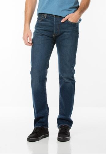 Levi's blue 501® Original Fit Stretch Jeans LE843AA0FLXISG_1