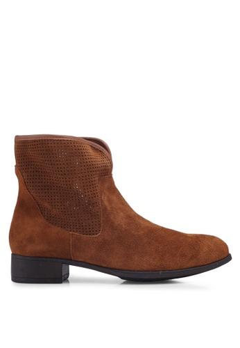 Anacapri 褐色 麂皮靴子 CE618SH266204CGS_1