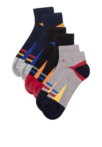 三入撞色運動襪子, 服飾, 男性zalora時尚購物網評價服飾