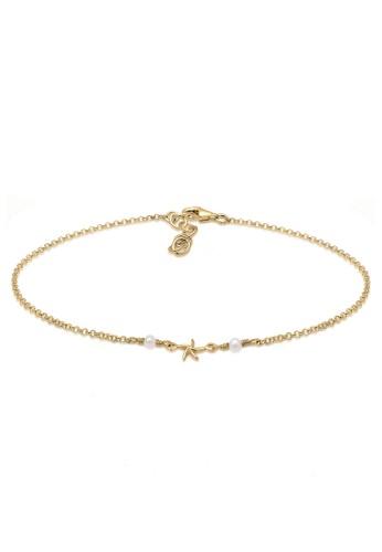 Elli Germany gold Perhiasan Wanita Perak Asli - Silver Gelang Kaki Basic Starfish Emas Emas E6FB6ACEDB49B2GS_1