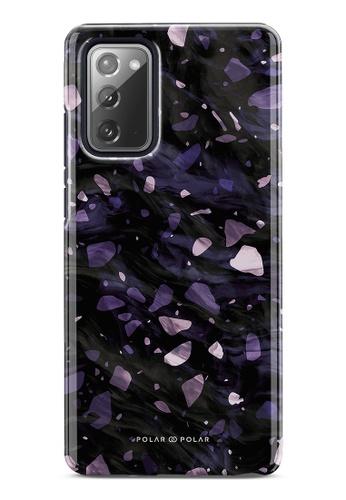 Polar Polar purple Lilac Terrazzo Gem Dual-Layer Tough Case Glossy For Samsung Galaxy Note20 5G 89558AC13A7245GS_1