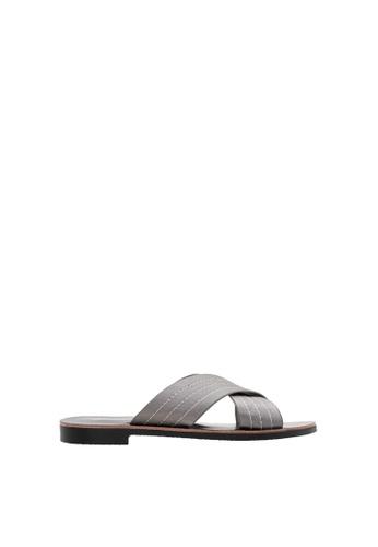 SEMBONIA grey SEMBONIA Synthetic Leather Flat Sandal (Light Grey) ECBDESH8B3D57BGS_1