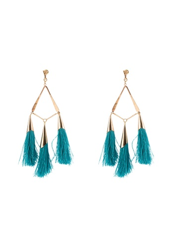 Red's Revenge blue Triangle Tassel Statement Earrings FBFACAC59A116FGS_1