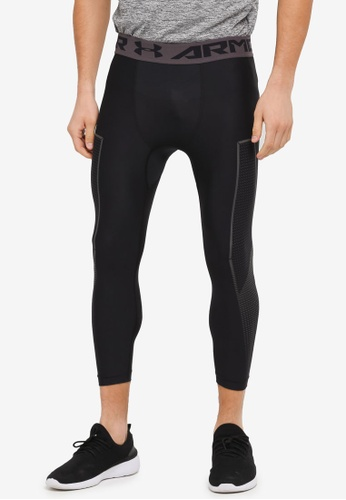 Under Armour black HG Armour Graphic 3/4 Pants UN337AA0SU6XMY_1