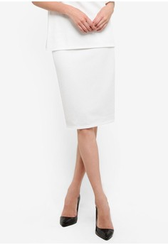 Ivory Pencil Skirt