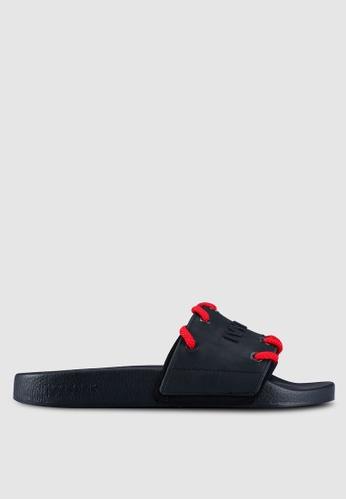 Ivy Park 黑色 LOGO印花拖鞋 B40E2SHE839BDEGS_1